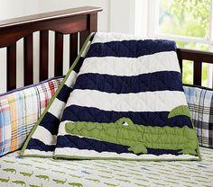 If its a boy. Alligator Madras Nursery Bedding