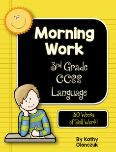 This year-long collection of morning work focuses on grade 3 common core language standards. One sheet of morning work lasts all week! Personal Narrative Writing, Informational Writing, Classroom Jobs Display, Data Notebooks, Interactive Notebooks, Time Word Problems, Third Grade, Grade 3, Fourth Grade