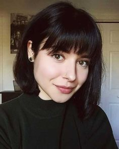 15.Short Hairstyle with Bangs