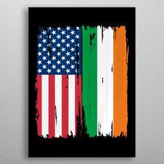 Want a metal print copy?: Visit Store Description: USA Iran Split Flag by Christian Strang Artwork Prints, Cool Artwork, Poster Prints, Posters, Canvas Art, Canvas Prints, Print Artist, Buy Art, Poster