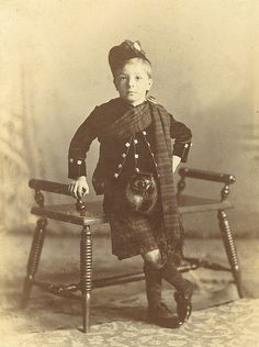 +~+~ Antique Photograph ~+~+  Wonderfully confident boy with deep Scottish roots. 1899.