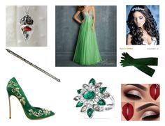 """rosabella night, yule ball"" by sarahmullen-yugioh ❤ liked on Polyvore featuring Night Moves and Avon"