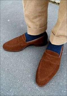 Loafers of the brown