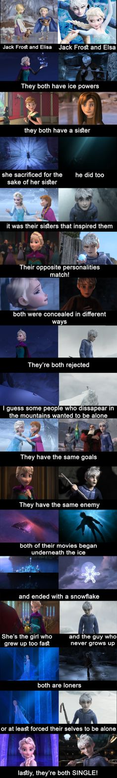 I hope in a collaborative work of the Disney and the DreamWorks together for a film that there are Jack Frost and Elsaaaa😍♥️😍♥️ Disney Memes, Disney Pixar, Funny Disney Jokes, Disney Ships, Disney Facts, Disney Quotes, Disney And Dreamworks, Disney Magic, Funny Memea