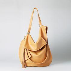 Shoulder Bags – TUULI hobo in tobacco leather – a unique product by RARAMODO on DaWanda