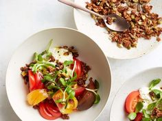 Heirloom Tomatoes with Ricotta and Savory Granola