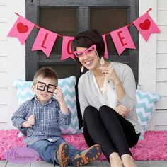 Lightweight leather earrings by Nickel and Suede. Mother and son valentines day photo featuring Nickel & Suede.