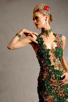 Beadworked gown