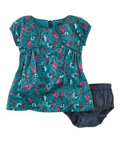 Another great find on #zulily! Jade Floral Faiga Dress & Diaper Cover - Infant by Tea Collection #zulilyfinds