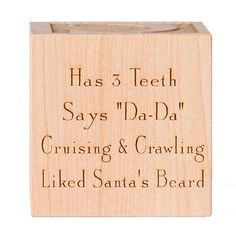 Baby's First Christmas Block Engraved. $24.00, via Etsy.