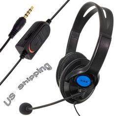 Wired Gaming Headset Headphones with Microphone for Sony PS4 PlayStation 4 YK #UnbrandedGeneric