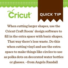Cricut Craft Room is great to get the most out of your Vinyl!