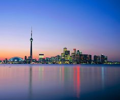 An poster sized print, approx (other products available) - City skyline including the CN Tower, Toronto, Ontario, Canada - Image supplied by WorldInPrint - Poster printed in the USA Places To Travel, Places To Go, America And Canada, Top Destinations, Urban Life, Toronto Canada, Canada Travel, Cn Tower, Ontario