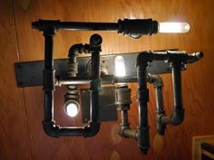 Do it yourself STEAMPUNK-DieselPunk Fashionable Lamp/Mild- w/recycled pipe fittings - http://steampunkvapemod.com/do-it-yourself-steampunk-dieselpunk-fashionable-lampmild-wrecycled-pipe-fittings/