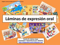 Láminas de expresión oral English Activities, Work Activities, Speech Language Pathology, Speech And Language, Baby Learning Games, Speaking Games, Early Literacy, Teaching Spanish, How To Speak Spanish