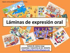 Láminas de expresión oral Speech Language Pathology, Speech And Language, Baby Learning Games, Speaking Games, Grammar Games, English Activities, Early Literacy, How To Speak Spanish, Teaching Spanish