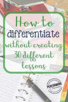 How to differentiate without planning 30 individual lessons! How to differentiate without planning 30 individual lessons!,Differentiation Learn how to differentiate without creating lesson plans for each individual student. You NEED to show your admin. Co Teaching, Teaching Strategies, Student Teaching, Teaching Ideas, Teaching Theatre, Teaching Chemistry, Visiting Teaching, Teaching Methods, Instructional Coaching