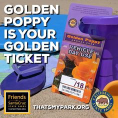 If you purchase your State Parks pass through our website, a significant portion of the proceeds stays local to support parks and beaches in Santa Cruz County and coastal San Mateo County. Buy yours today at www.thatsmypark.org. #parkpasses #shoponline #castateparks #goldenpoppypass #californiaexplorerpass #visitparks #supportparks #thatsmypark