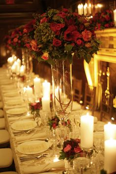 Close Up Dinner Table Floral Arrangements   Weddings by MWD Lifestyles