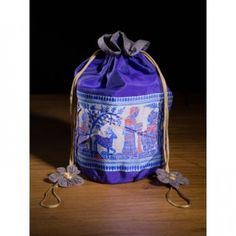 Miharu Violet Ethnic Baluchari Potli Bag