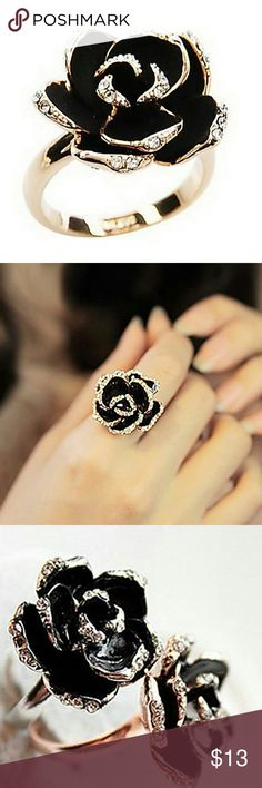 All Sold Out!! - Lovely Floral Ring A cute Floral Ring !! A cute ring that is certain to give a flair to any outfit ;) ! One Size fits all and has adjustable ring size Jewelry Rings