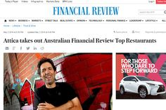 The 2016 Top 100 restaurants in Australia by Financial Review was voted by 500 top chefs in Australia. Attica and Brae are voted as the top two in 2016. Paper Video, Home Food, Business Marketing, Personal Finance, Chefs, Wine Recipes, Leadership, Infographic, The 100