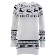 Christmas Loving Deer Sweater CUPSHE ($20) ❤ liked on Polyvore featuring tops, sweaters, deer print sweater, checkered sweater, print top, print sweater and christmas tops