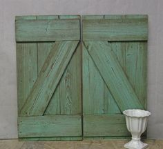 Shabby Reclaimed Wood Aqua Painted Farmhouse by royaloakcottage, $140.00
