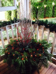 Our version of a horizontal wreath.