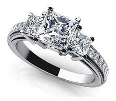 Dazzling Princess Cut Engagement Ring