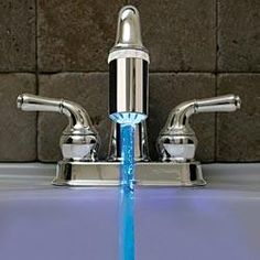 Blue Faucet Light  $8.99    #pintowinGifts @Gifts.com