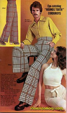 Plaid Stallions : Rambling and Reflections on '70s pop culture: Hounds Tooth Corduroys