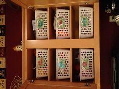 Dollar store cabinet organization