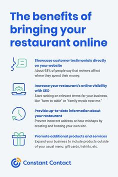 Don't think twice about bringing your restaurant #online! Here's a list of benefits from doing so.