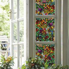 DC Fix in. Spring Chapel Window Film ((Set of - The Home Depot Stained Glass Window Film, Stained Glass Art, Fused Glass, Window Coverings, Window Treatments, Dc Fix, Decoration, Home Depot, Sweet Home