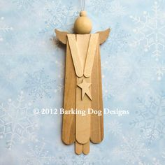 Bare Wood Angel Ornament With Star Christmas Tree Decoration DIY Ready-to-Paint Ornie. $7.99, via Etsy.