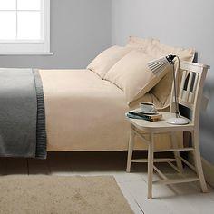 John Lewis Croft Collection Herringbone Stripe Bedding, Honey