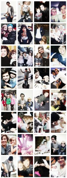 Ok, pictures of him with kids were bad enough by themselves..but now someone makes a collage??? I swear some of you people are trying to kill us!!