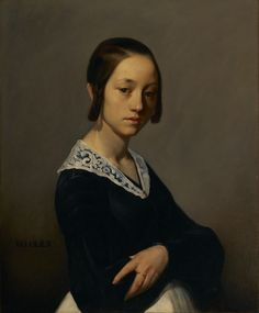 Portrait of Louise-Antoinette Feuardent; Jean-François Millet (French, 1814 - 1875); France, Europe; 1841; Oil on canvas; 73.3 × 60 cm (28 7/8 × 23 5/8 in.); 95.PA.67; J. Paul Getty Museum, Los Angeles, California