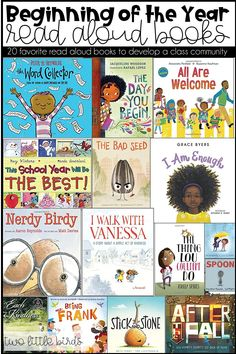 20 Favorite Back to School Read Aloud Books to help build a classroom community at the beginning of the year. 3rd Grade Books, Third Grade Reading, Grade 1, Second Grade, Read Aloud Books, Reading Aloud, Guided Reading, First Grade Classroom, Primary Classroom