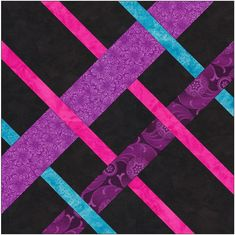Complex Diamond Knot Celtic Knots Chain 10 Inch Paper Foundation Quilting Block…