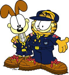 Cub Boy Scouts of America Garfield and Odie