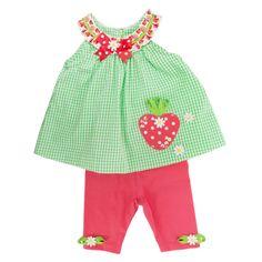 Rare Editions Infant Girl Strawberry Shortcake Capri Set #VonMaur