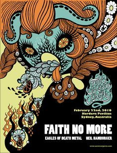 FAITH NO MORE - EAGLES OF DEATH METAL - 2010  Junko Mizuno Hordern Pavilion Sydney New South Wales Australia