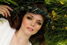 Boho bridal hair and makeup