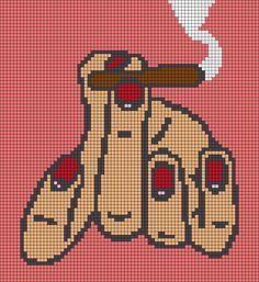 Cross Stitch Bookmarks, Mini Cross Stitch, Modern Cross Stitch, Easy Perler Bead Patterns, Perler Bead Art, Cross Stitch Patterns, Mochila Crochet, Cross Stitch Beginner, Pixel Art Grid