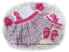 """Floral Conjunto Vestido Conjunto 16-22 """"muñeca / prem / recién nacido / 0-3m bebé-"""