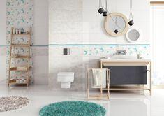 Opp! White glazed ceramic tiles (90x30 cm) with Origami decorations