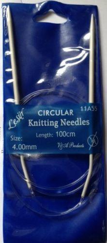 V & A Circular Knitting Pins/ Needles Size 4mm Length 100cm