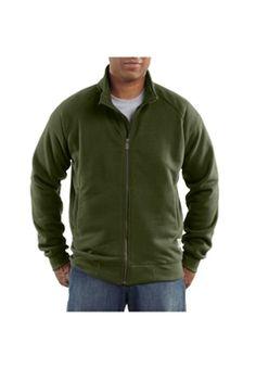 Carhartt Mens K350 Midweight Mock Neck Zip Front Sweatshirt - Olive | Buy Now at camouflage.ca
